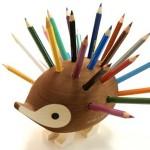 新入園のプレゼントに最適なハリネズミの色鉛筆スタンドがかわいい!