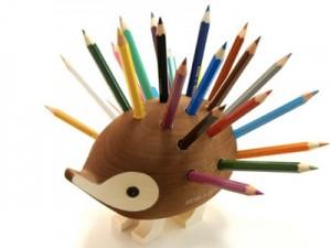 色鉛筆スタンド はりねずみ