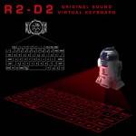 レイア姫のホログラムかっ!R2-D2がバーチャルキーボードを投影するだけで、こんなに魅力的になるなんてっ!