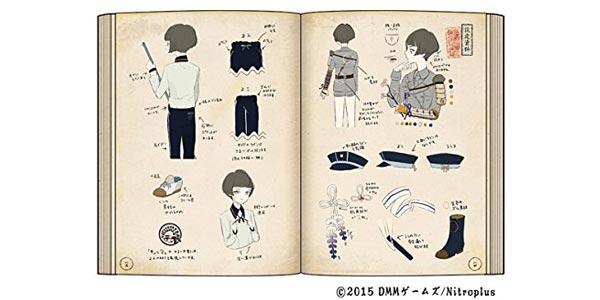 刀剣乱舞絢爛図録 サンプルページ1
